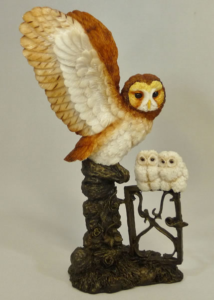 Tawny Owl and Chick by Bowbrook Studios