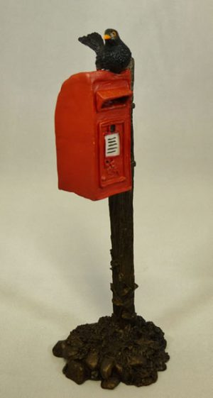 Blackbird on Postbox by Bowbrook Studios