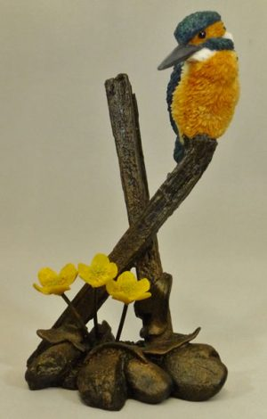 Kingfisher with Marigolds Bowbrook Studios