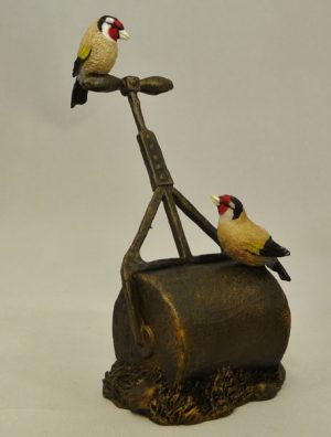 Goldfinches on Roller by Bowbrook Studios