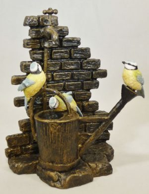 Blue Tit Trio on Watering Can Bowbrook Studios