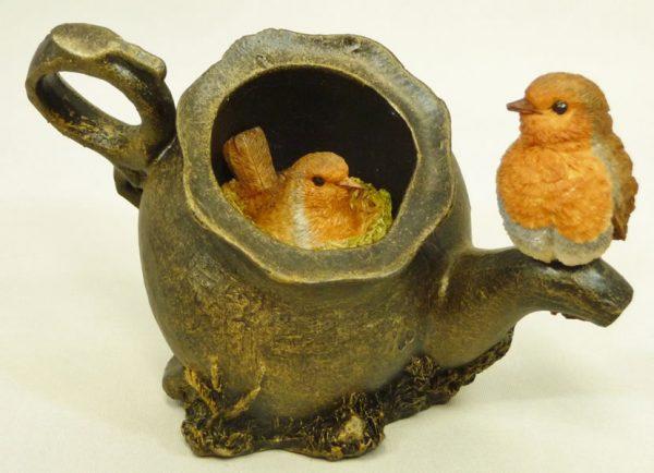 Robins in Teapot Bowbrook Studios