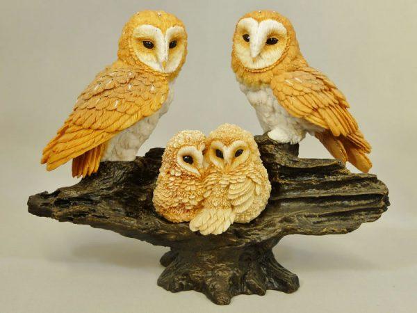 Barn Owl Family by Bowbrook Studios