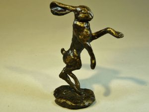 Small Boxing Hare (Metal) by Bowbrook Studios