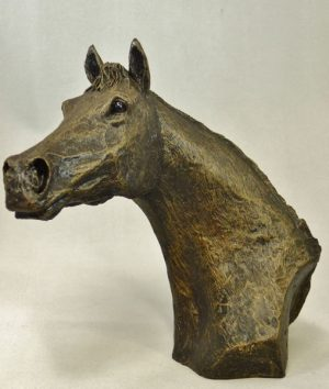 Thoroughbred Horse Bust by Bowbrook Studios