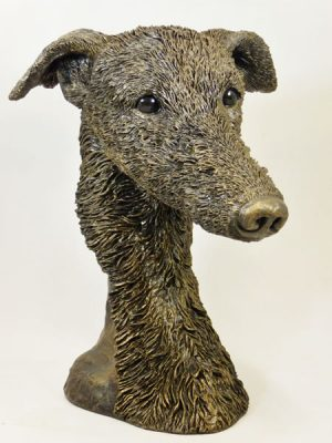 Lurcher Bust by Bowbrook Studios