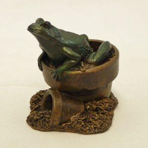 Frog in Flowerpot by Bowbrook Studios