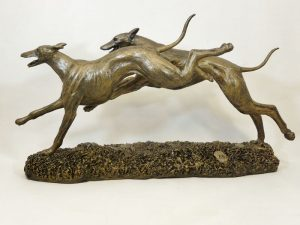 Pair of Greyhounds by Bowbrook Studios