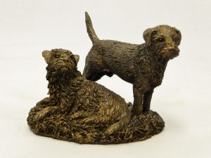 Pair of Border Terriers by Bowbrook Studios